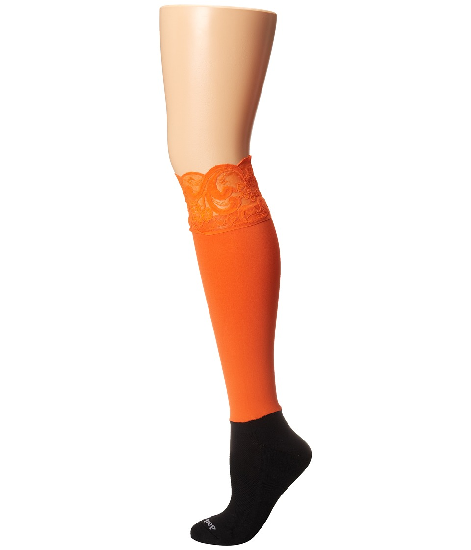 BOOTIGHTS - Lacie Lace Darby Knee High/Ankle Sock (Orange) Knee high Hose
