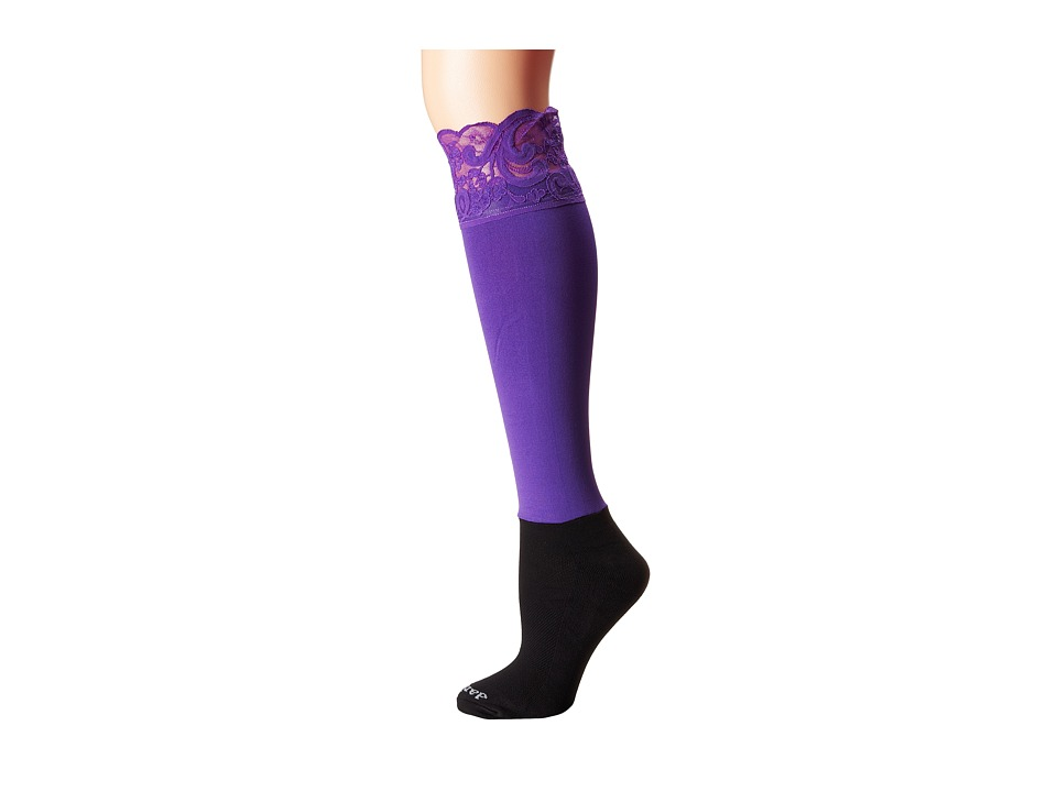 BOOTIGHTS - Lacie Lace Darby Knee High/Ankle Sock (Purple) Knee high Hose