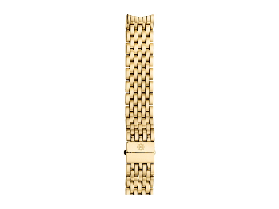 Michele - 18mm CSX-36 Gold 7-Link Bracelet (Gold) Watches