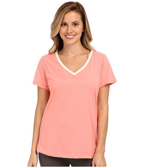 Jockey - Blooming Cosmos S/S V-Neck Top (Sienna) Women