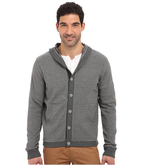 Joe's Jeans - Carter Hoodie Cardigan (Heather Grey) Men's Sweater