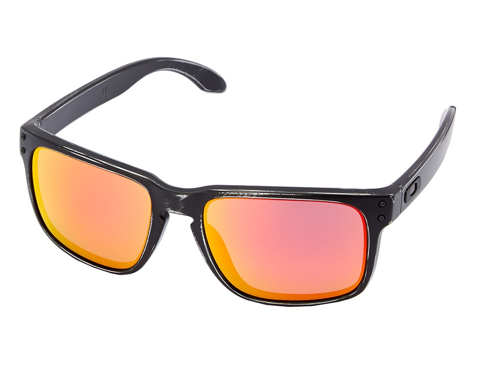 Oakley - Holbrook (Ruby Iridium w/ Black Decay) Sport Sunglasses