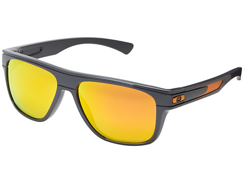 Oakley - Breadbox (Fire Iridium Polarized w/ Dark Grey) Sport Sunglasses
