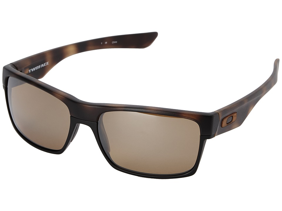 Oakley - Two Face (Tungsten Iridium Polarized w/ Brown Tortoise) Sport Sunglasses
