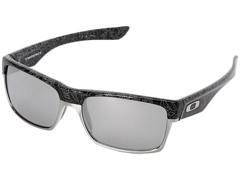 Oakley - Two Face (Chrome Iridium Polarized w/ Polished Black) Sport Sunglasses