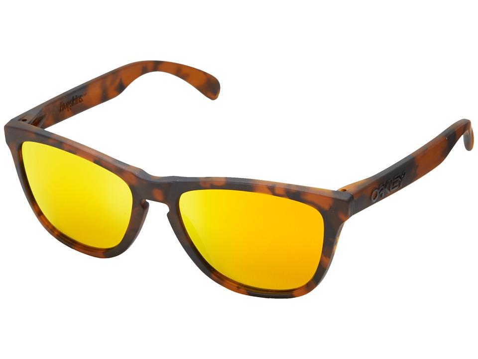 Oakley - Frogskins (Fire Iridium w/ Brown Tortoise) Sport Sunglasses