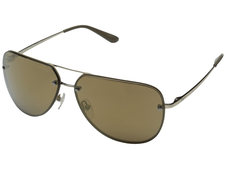 Salvatore Ferragamo - SF132S (Shiny Gold/Beige) Fashion Sunglasses
