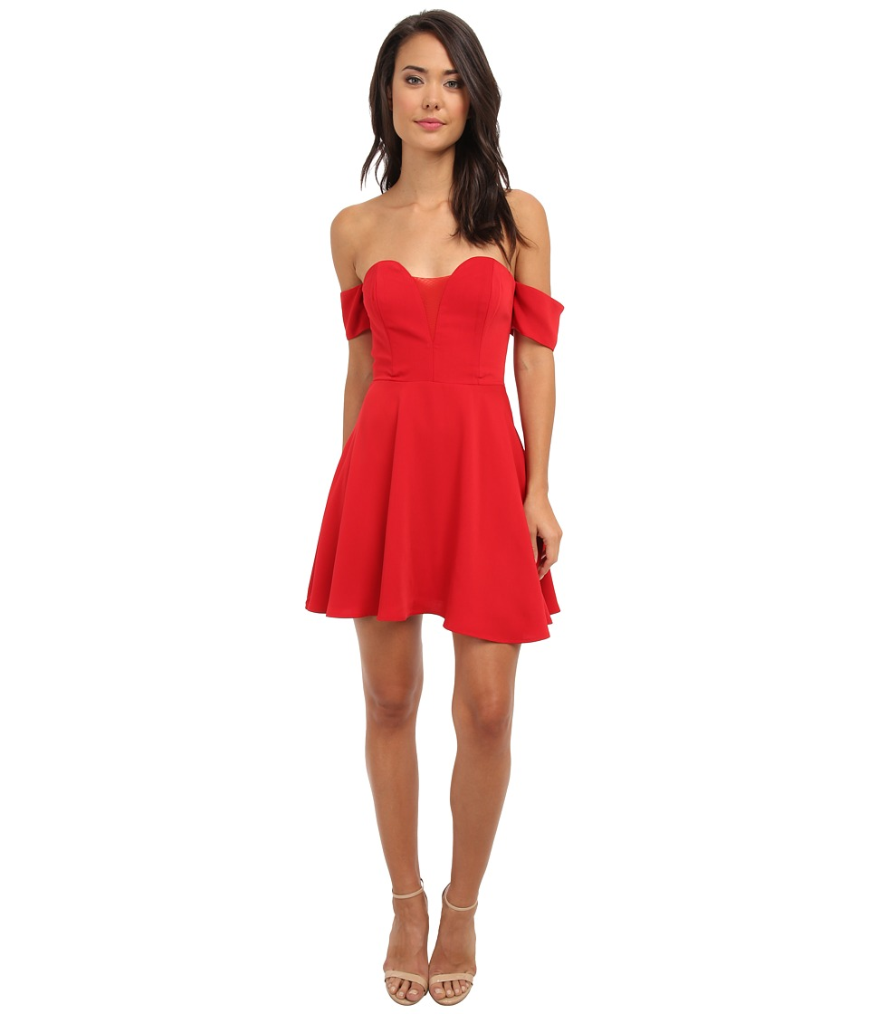 StyleStalker - Ballerina Blue Dress (Red) Women's Dress