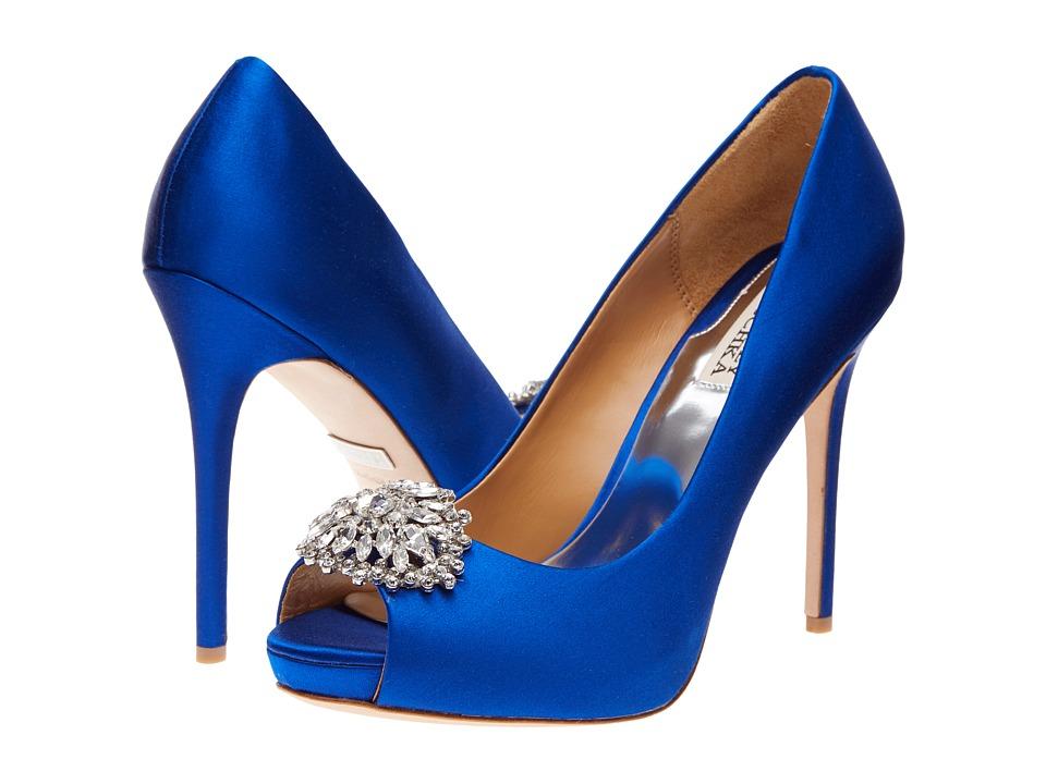 Badgley Mischka Jeannie (Sapphire Satin) High Heels