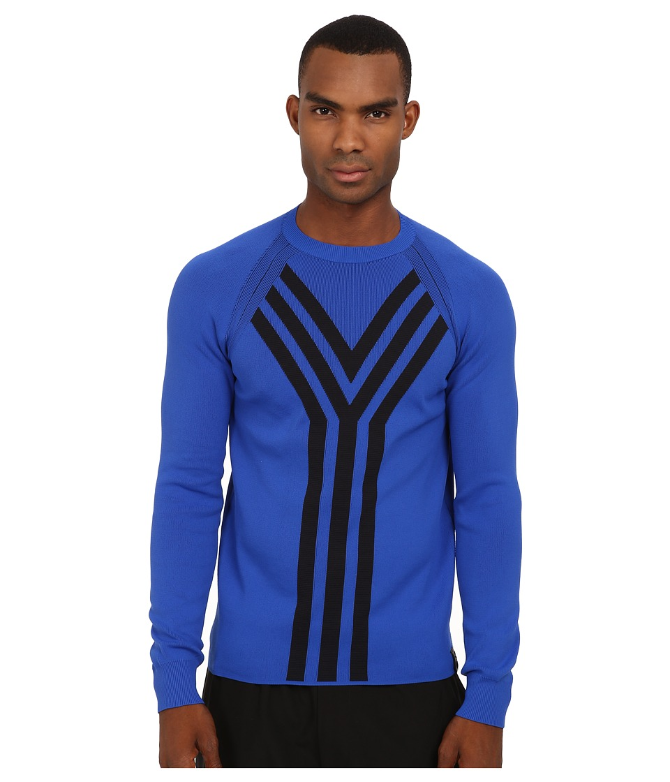 adidas Y-3 by Yohji Yamamoto - Y-3 Knit Crew (Power Blue/Black) Men's Sweater