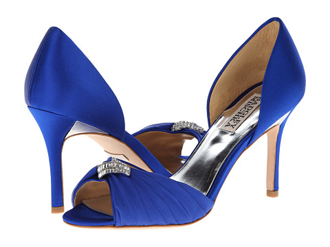 Badgley Mischka - Jennifer (Sapphire Satin) High Heels