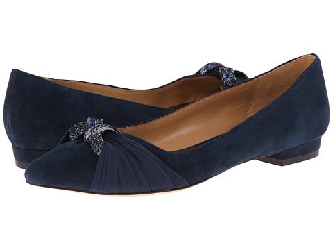 Badgley Mischka - Jenny (Midnight Suede) Women's Slip-on Dress Shoes