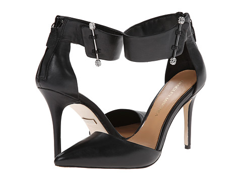 Badgley Mischka - Jude (Black Leather) High Heels