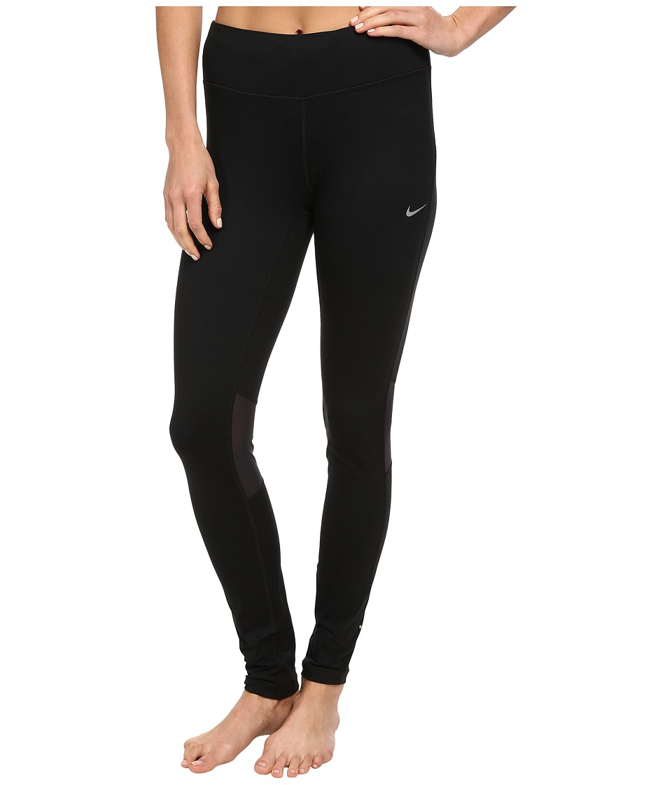 Nike - Dri-FITtm Epic Run Tight (Black/Black/Reflective Silver) Women's Workout