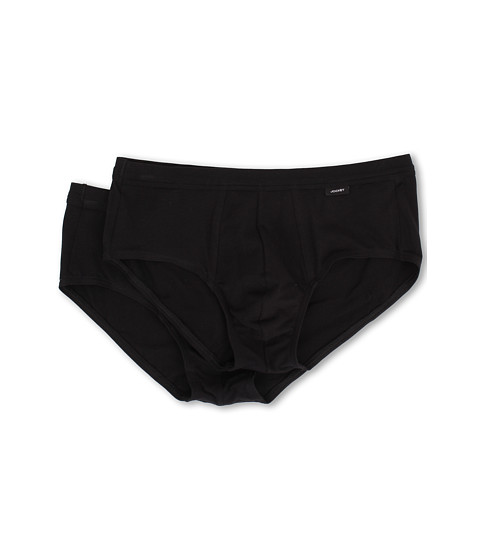 Jockey - Cotton Stretch Low-Rise Brief 2-Pack (Black) Men