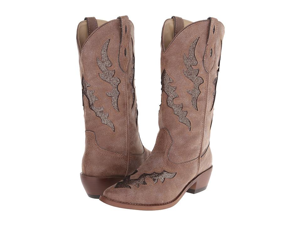 Roper - Fashion Flair Glitter Underlay Boot (Brown) Cowboy Boots
