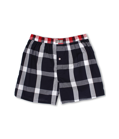 Jockey - Tailored Fit Woven Boxer (Hamilton Plaid) Men