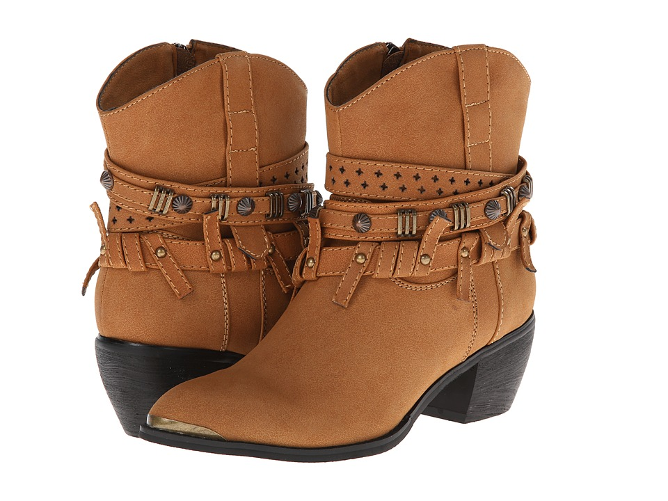 Roper - Studded Strap Ankle Boot (Light Beige) Cowboy Boots