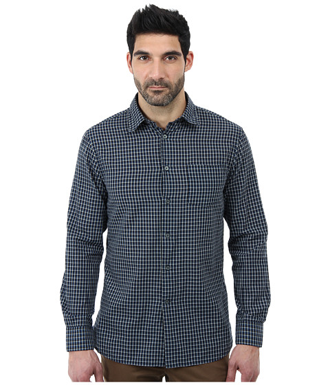 John Varvatos Star U.S.A. - Slim Fit Shirt w/ Point Collar and Single Chest Pocket W373Q2B (Cobalt/Cobalt/Academy) Men