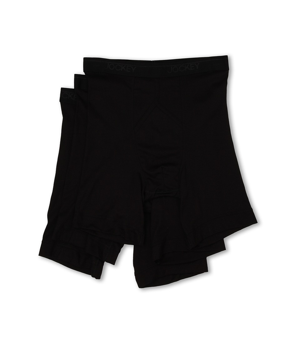 Jockey - 3 Pack Athletic Midway Brief (Black) Men's Underwear