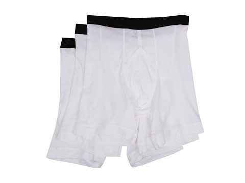 Jockey - 3 Pack Athletic Midway Brief (White) Men's Underwear