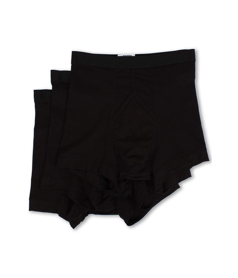 Jockey - Staycool Boxer Brief 3-Pack (Black) Men's Underwear