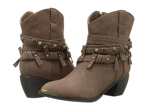 Roper - Studded Strap Ankle Boot (Brown) Cowboy Boots