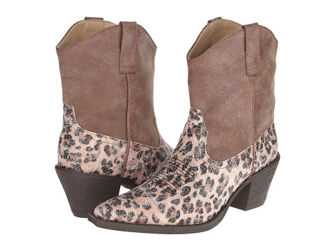 Roper - Leopard Print Ankle Boot (Brown) Cowboy Boots