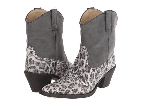 Roper - Leopard Print Ankle Boot (Black) Cowboy Boots