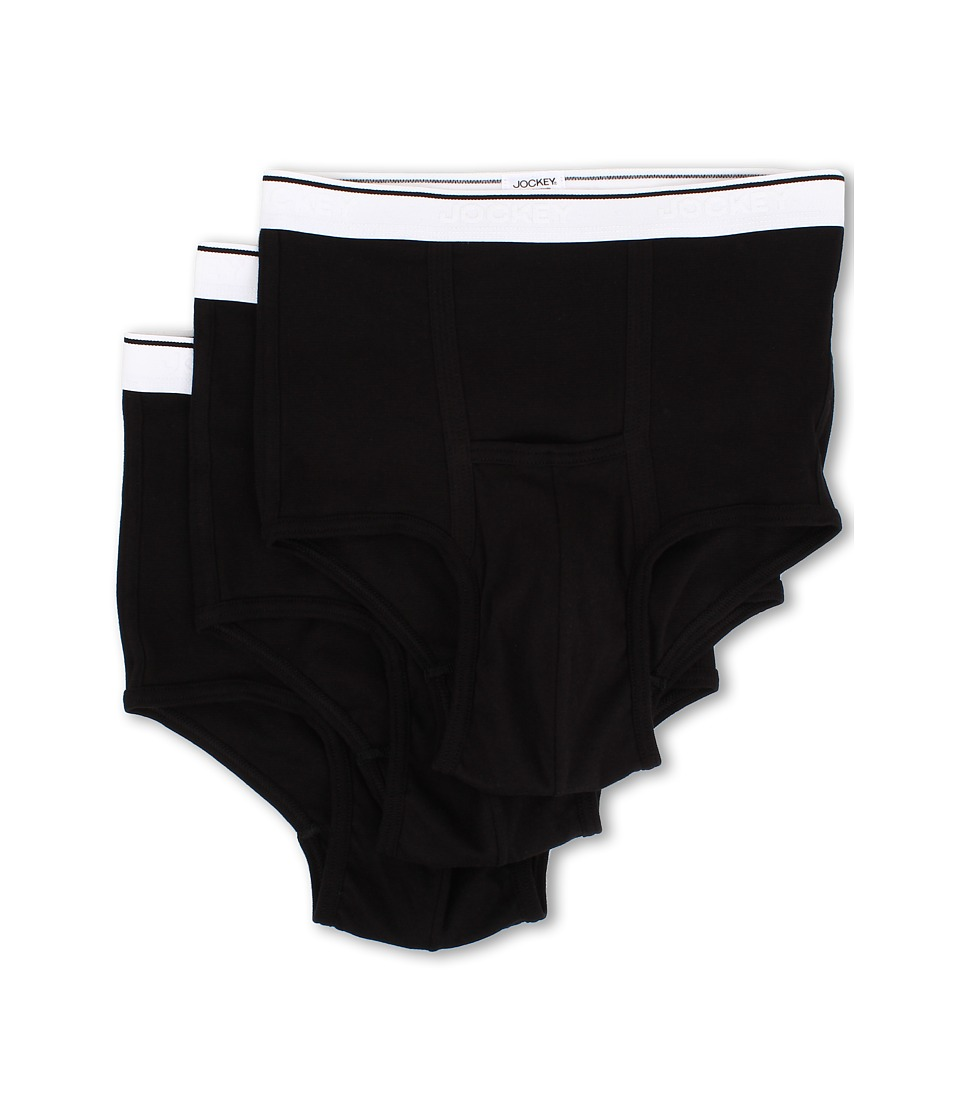 Jockey - Pouch Brief 3-Pack (Black) Men's Underwear