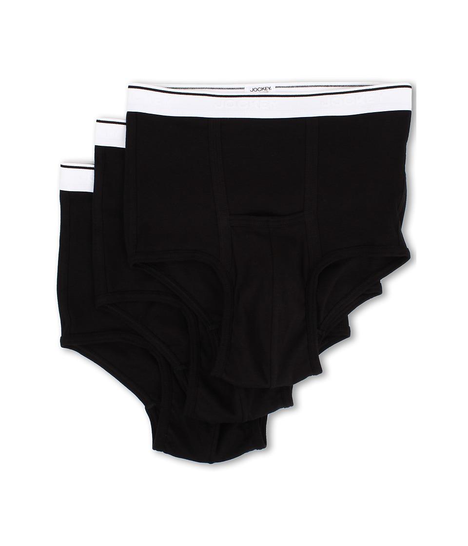 Jockey - Pouch Brief 3-Pack (Black) Men's Underwear