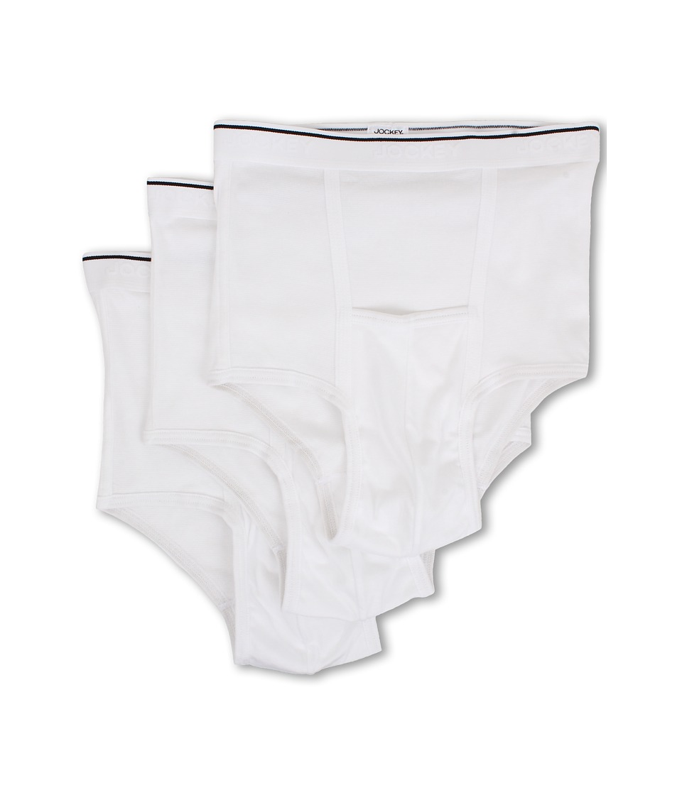 Jockey - Pouch Brief 3-Pack (White) Men's Underwear