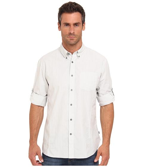 John Varvatos Star U.S.A. - Striped Roll Sleeve Shirt 50VW (Charcoal) Men