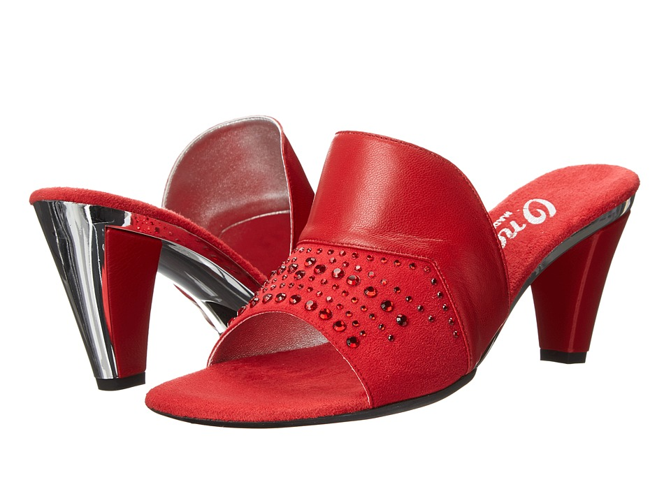 Onex - Brandie (Red Leather) Women's Beads/Ornaments Shoes
