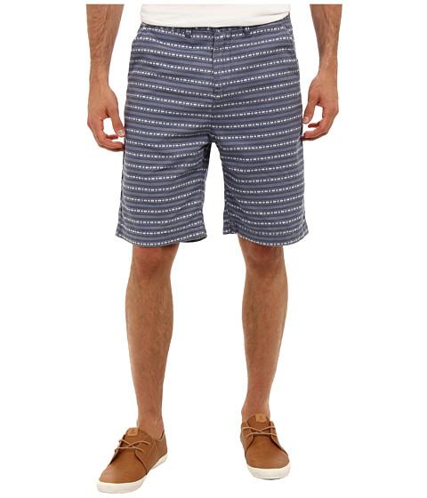 J.A.C.H.S. - Indigo Canvas Wasbash Printed Short (Blue) Men's Shorts