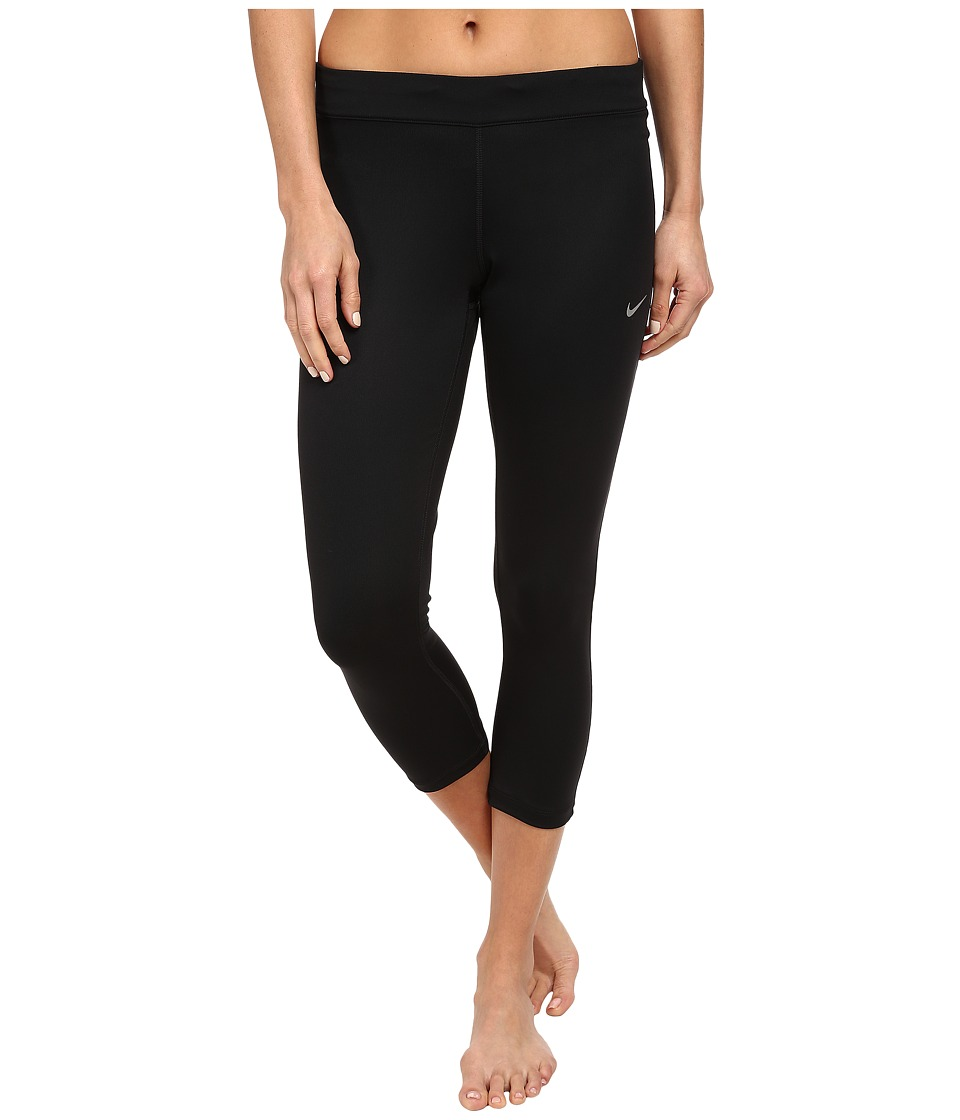 Nike - Relay Crop (Black/Black/Reflective Silver) Women