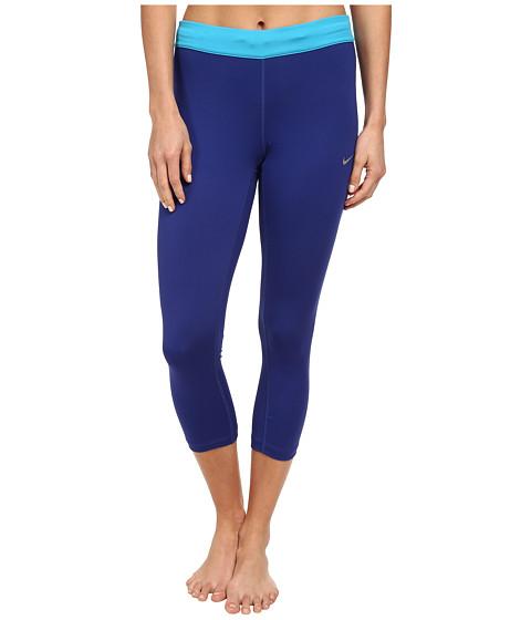Nike - Relay Crop (Deep Royal Blue/Blue Lagoon/Reflective Silver) Women