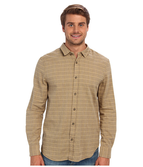 J.A.C.H.S. - Horizontal Striped Shirt (Brown) Men's Clothing