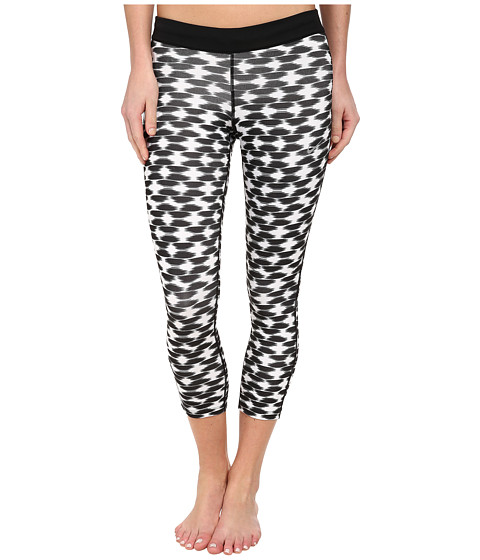 Nike - Printed Relay Crop (Black/Black/Reflective Silver) Women