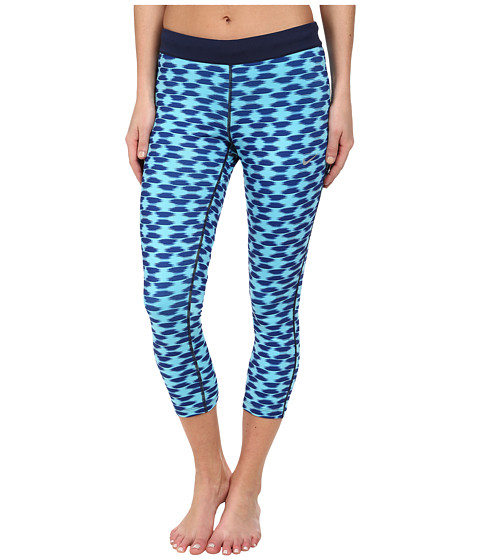 Nike - Printed Relay Crop (Deep Royal Blue/Midnight Navy/Reflective Silver) Women