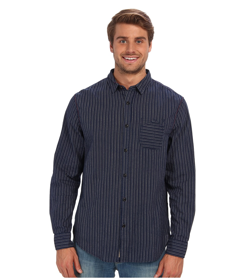 J.A.C.H.S. - Indigo Striped Shirt (Blue) Men's Clothing