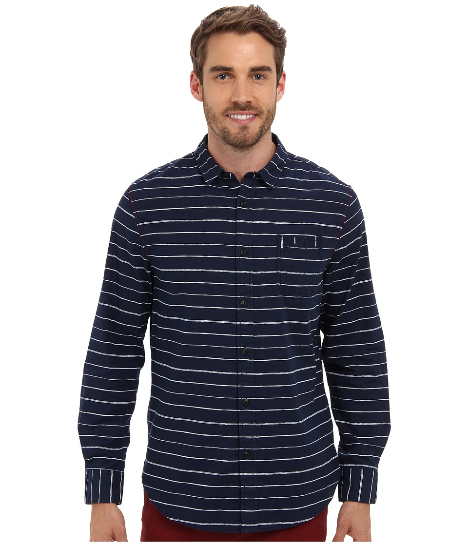 J.A.C.H.S. - Indigo Striped Shirt (Indigo) Men's Clothing