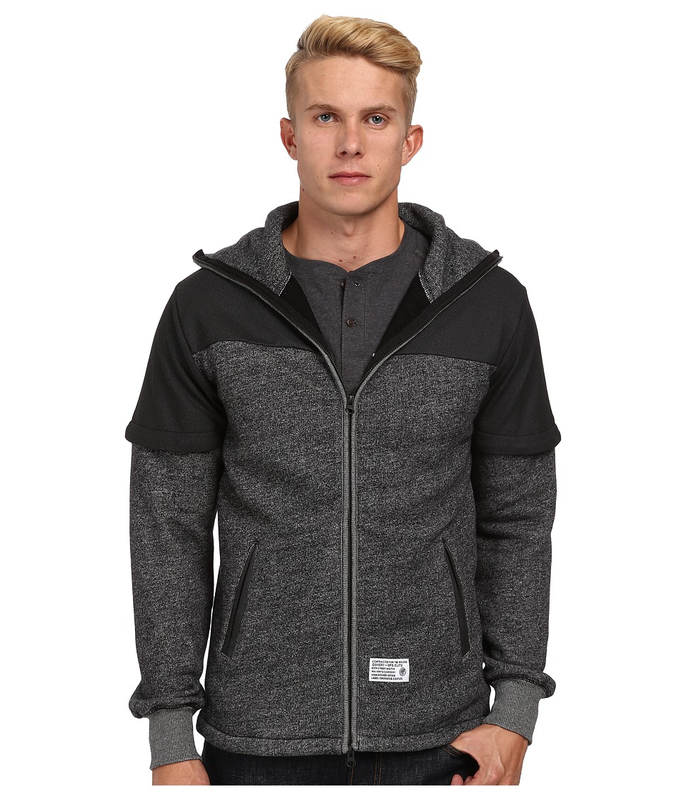 Crooks & Castles - Raven Knit Zip Hoody (Black) Men's Sweatshirt