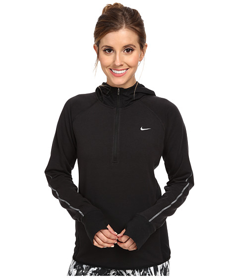 Nike - Sprint Fleece Half Zip (Black/Black/Reflective Silver) Women