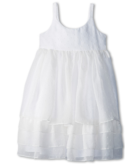 Pippa & Julie - White Float Dress (Little Kids/Big Kids) (White) Girl