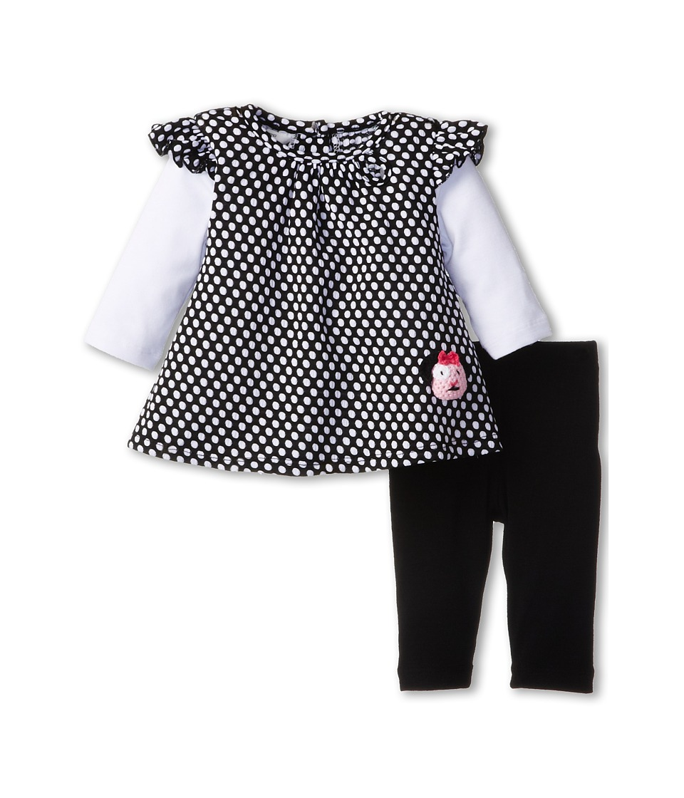 Pippa & Julie - Dot Dog Set (Infant) (Black/White) Girl's Active Sets