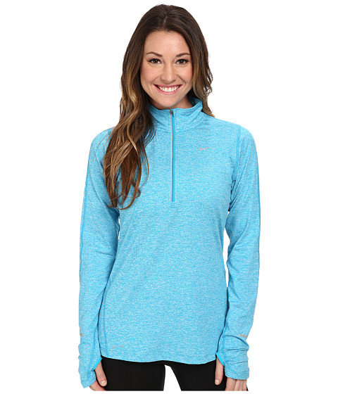 Nike - Element Half-Zip (Blue Lagoon/Heather/Reflective Silver) Women