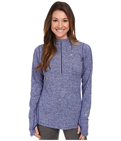 Nike - Element Half-Zip (Deep Royal Blue/Heather/Reflective Silver) Women