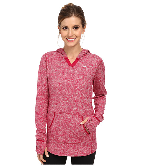 Nike - Element Hoodie (Dark Fireberry/Heather/Reflective Silver) Women