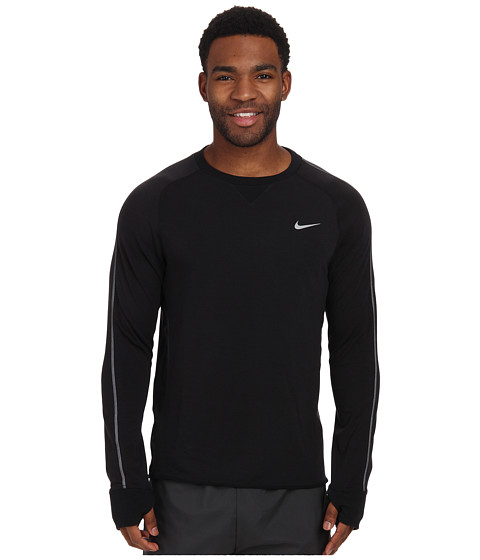 Nike - Dri-FIT Sprint Crew (Black/Black/Black/Reflective Silver) Men